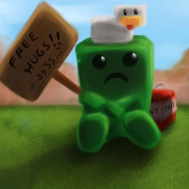 Minecraft All Creepers Want It A Hug