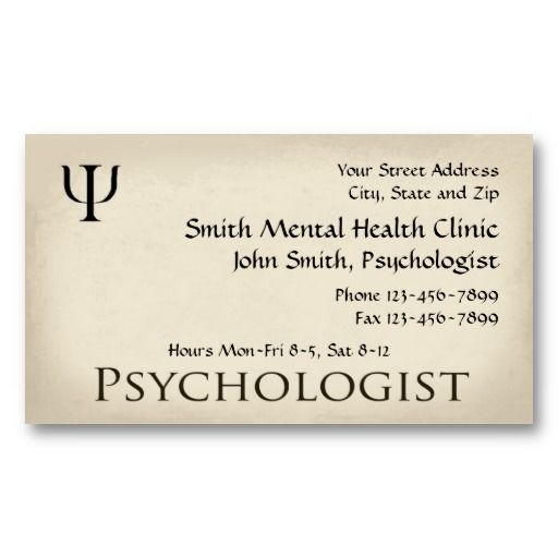 Psychologist Mental Health Business Card Physiciansurgeon Medical