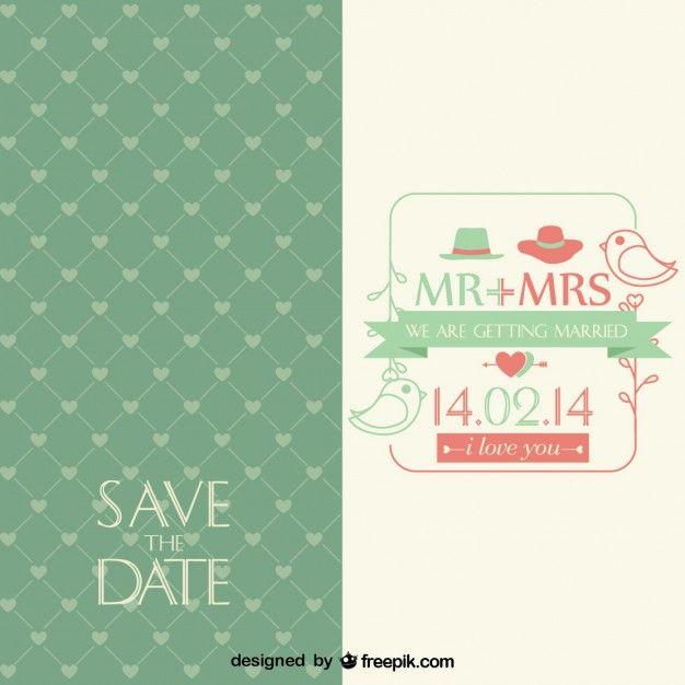 Vintage Vector Wedding Invitation Freepik Com Invitations