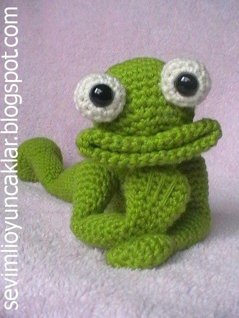 Crocheted Frog by Denizmum on Etsy, $80.00