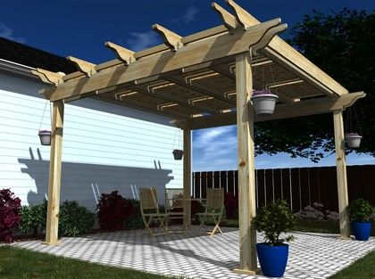 Pergola With Shutters Plan...I Want This For My Backyard!