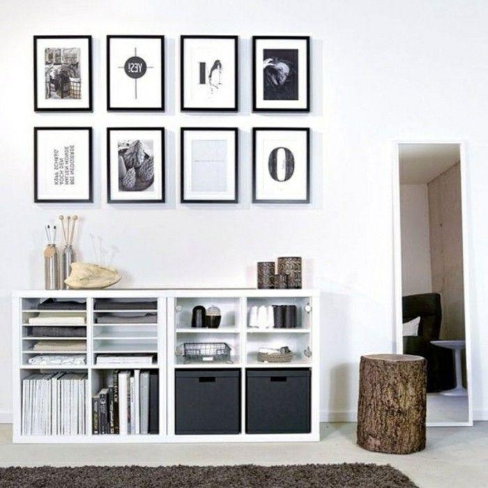 Ikea regale kallax flexible vielseitigkeit zum g nstigen preis regal pinterest - Kallax ideen wohnzimmer ...