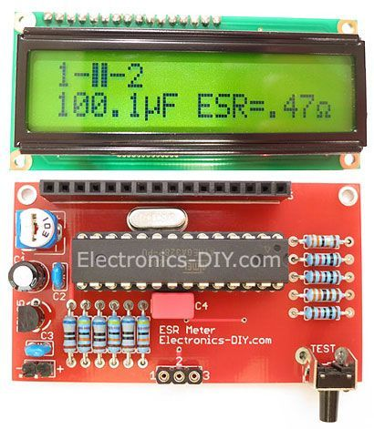 esr meter transistor tester lc meter kit blue backlight lcd rh pinterest ca Simple Electronic Circuits Schematic Circuit Diagram