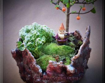 Concrete Pot Hypertufa Pot Planter Art by GreenspaceGardens