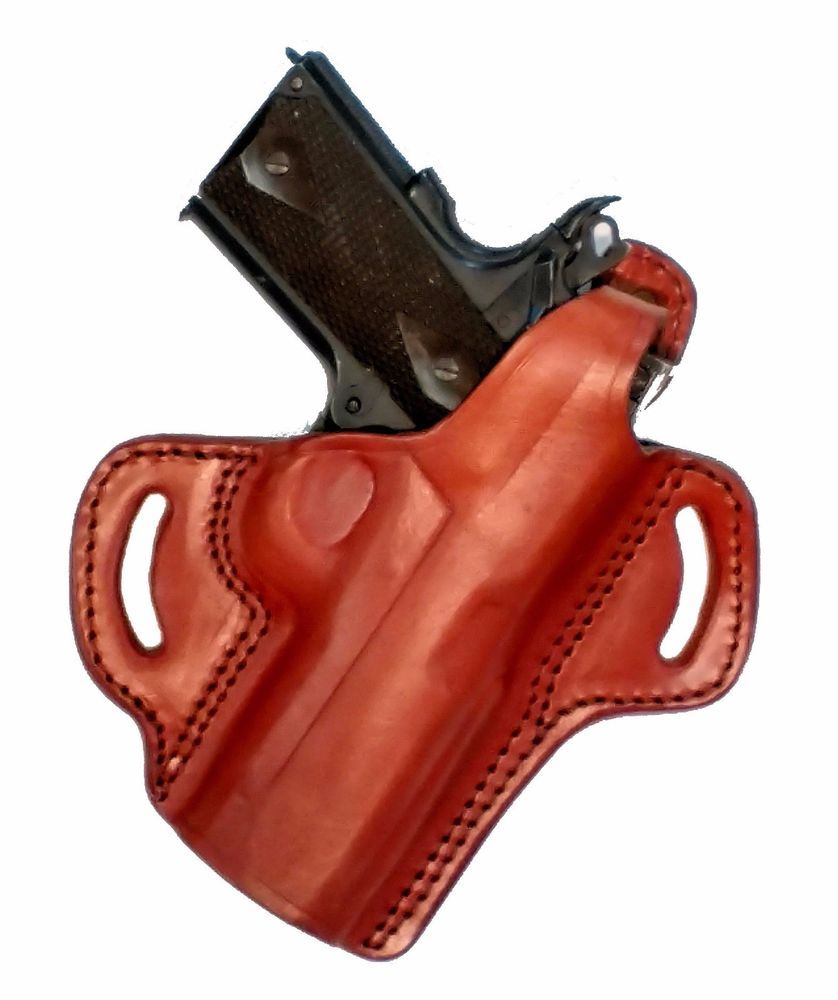 Holster Locked and Cocked Brown Leather Kimber Ultra 1911 3