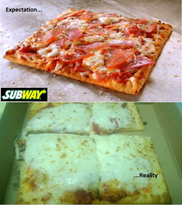 the subway flatizza expectation