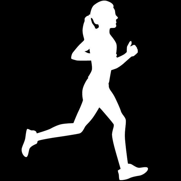Runner Silhouette Girl Runnerdecal Girl Silhouette Running Girl Tattoos Silhouette