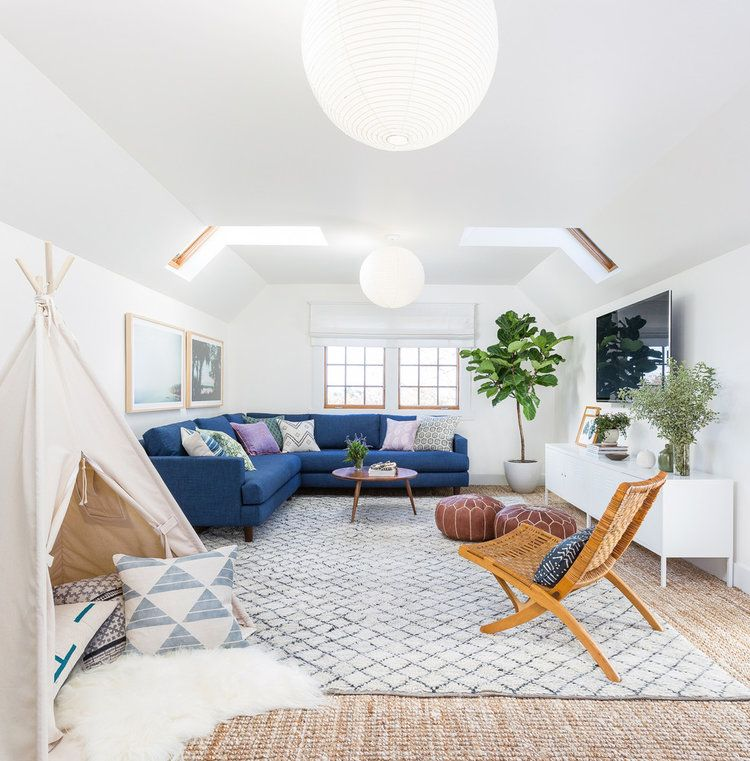 The perfect family-friendly modern boho living room ...