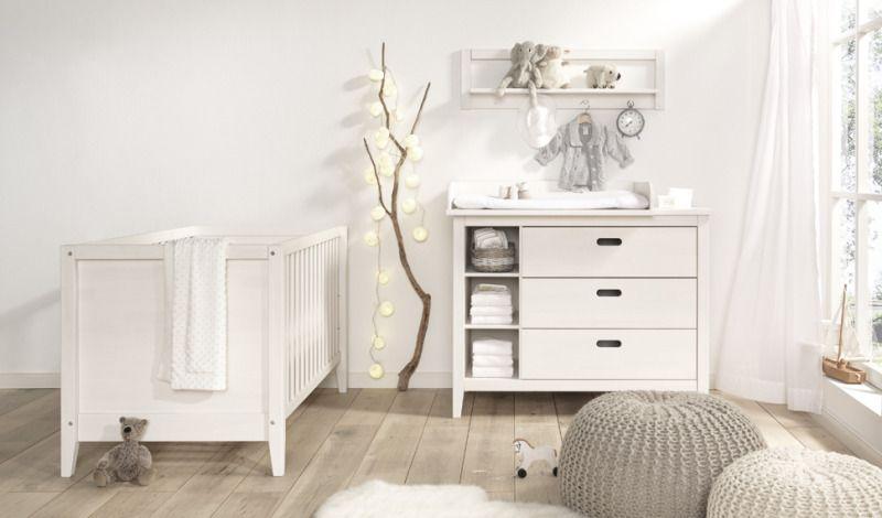 Babyzimmer weiß landhaus  Wellemöbel Babyzimmer Lumio Kiefer massiv weiß online kaufen auf ...