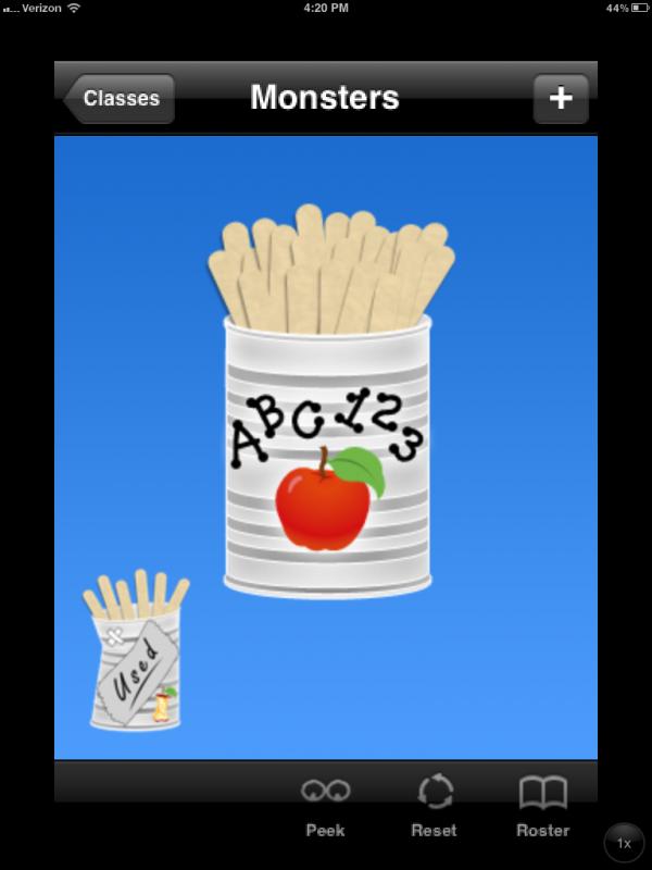 Stick Pick iPad app for calling on students randomly