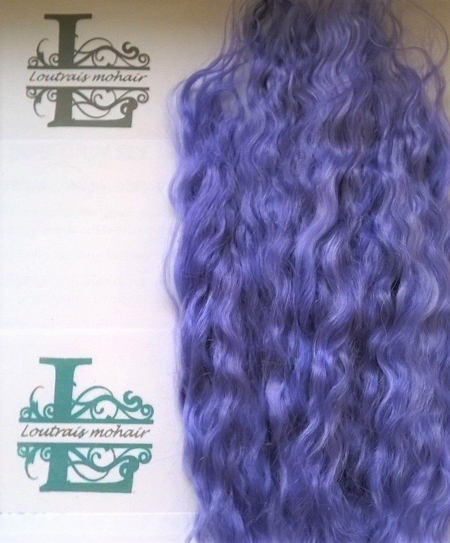 REBORN MOHAIR DOLL//TROLL//PUPPET//FAIRY//CREATURE HAIR WAVY HOT PINK 10GRAMS