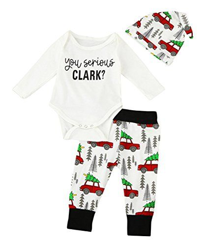 4e25e831abd2 Cute Newborn Infant Baby Boy Girl Clothes Romper Tops +Long Pants ...