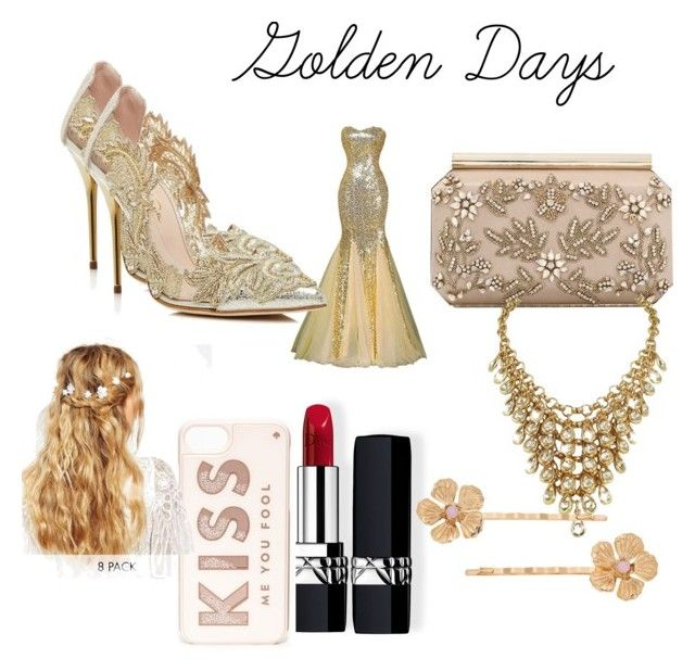 """""""Golden Days"""" by theperfectstorm ❤ liked on Polyvore featuring Oscar de la Renta, Christian Dior, Kate Spade, ASOS and LC Lauren Conrad"""