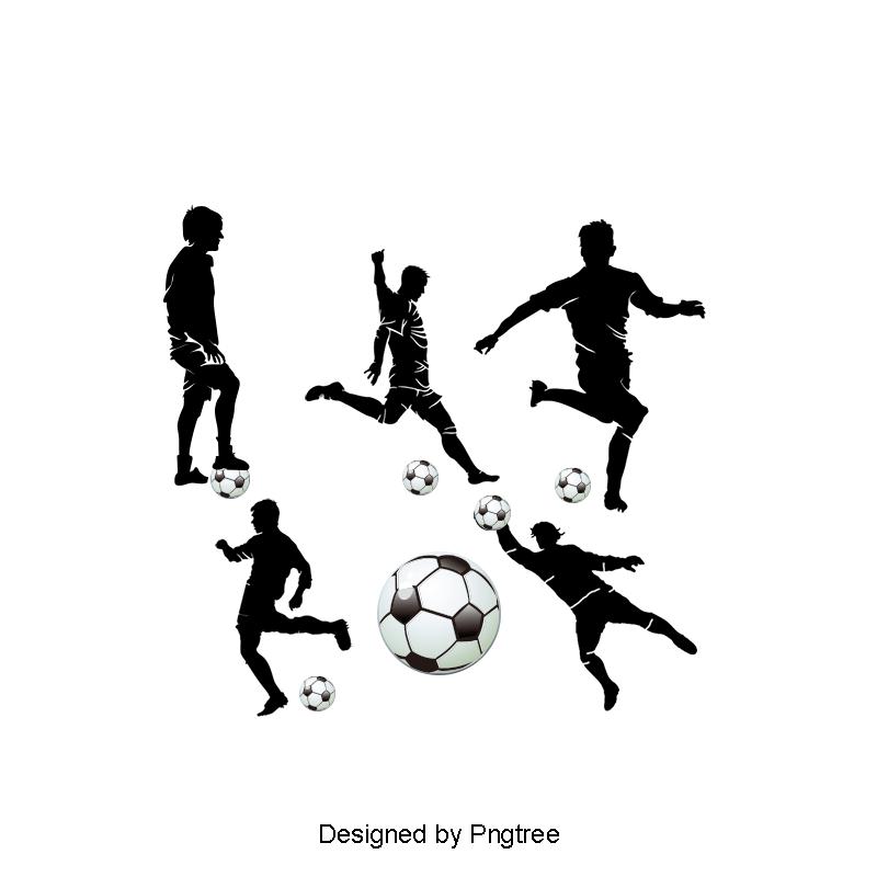 Silhueta De Jogador De Futebol Jogador De Futebol Figuras De Silhueta Futebol Arquivo Png E Psd Para Download Gratuito Soccer Players Football Players Football Background