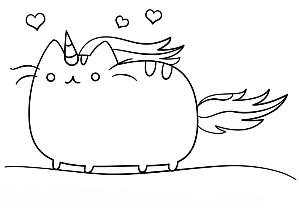 Pusheenicorn Coloring Page Pusheen Coloring Pages Kitty Coloring Mermaid Coloring Pages