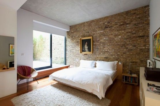 Impressive Bedrooms With Brick Walls DigsDigs Brick Stone - 65 impressive bedrooms with brick walls
