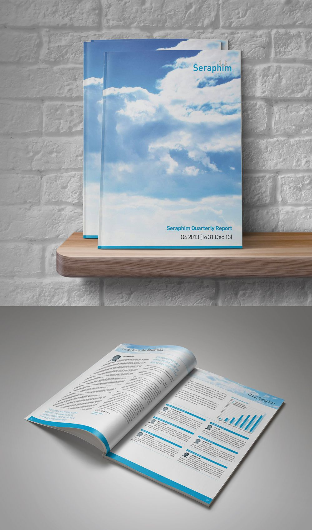 Quarterly financial report design for Seraphim Capital by lunatrix.co.uk #quarterlyreport #reportdesign #financialreport