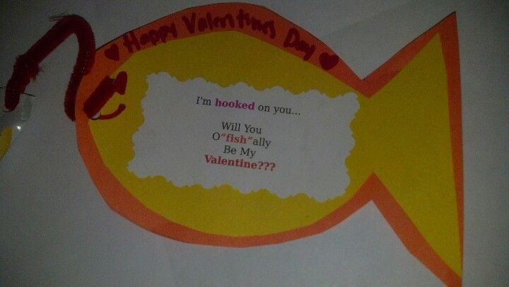 "Will you o""fish""ally my valentine???"