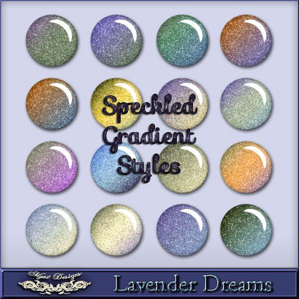 MystD - Lavender Dreams - Speckled Gradient Styles [MystD-LavenderDreams-SpGrSt] - $3.45 : Digital Scrapbooking Store | Digi Style Designs D...