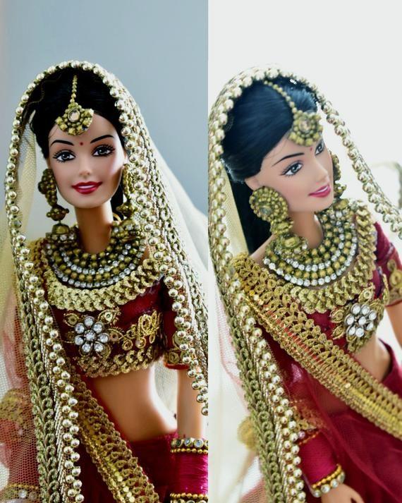 Indian bride doll #bridedolls