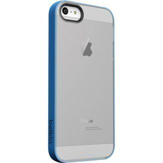 Belkin Grip Candy Sheer Case For iPhone 5/5S - Retail Packaging - Blue/Smoke (151903578186) Two-tone, translucent color options with glossy finish Protects while allowing access to controls and ports TPU construction for flexibility and durability Slender, compact design with camera lens cutout One-year warranty