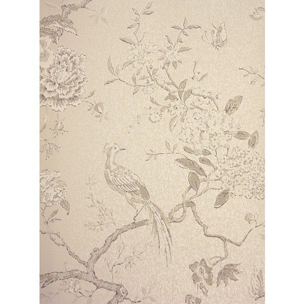 G P & J Baker Oriental Bird Wallpaper (5.645 RUB) ❤ liked on Polyvore featuring home, home decor, wallpaper, backgrounds, bird home decor, beige wallpaper, stone wallpaper, asian inspired home decor and asian home decor