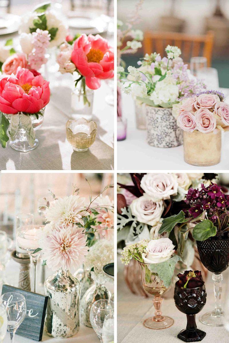 Composition Florale Centre De Table Automne rose poudr� pour le romantisme, color� pour l'automne ou l