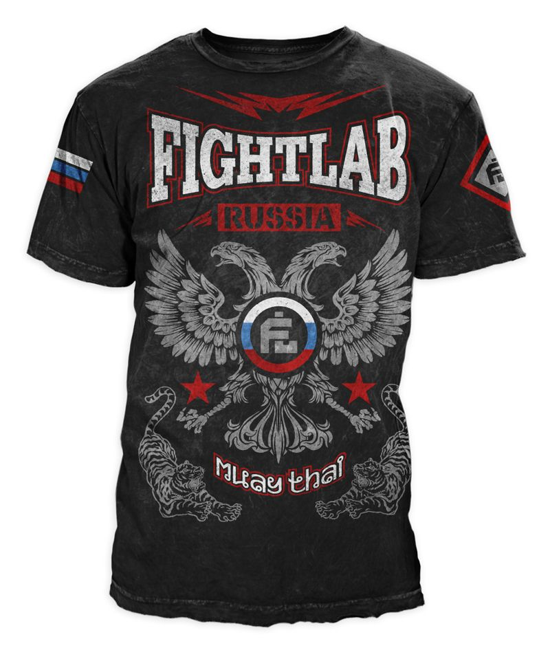 t shirt design for muay thai fighter based in russia company fightlab - Company T Shirt Design Ideas