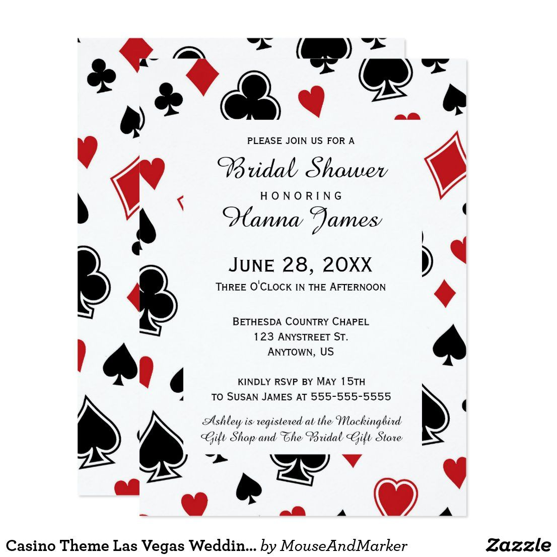 Casino Themed Wedding Invitations