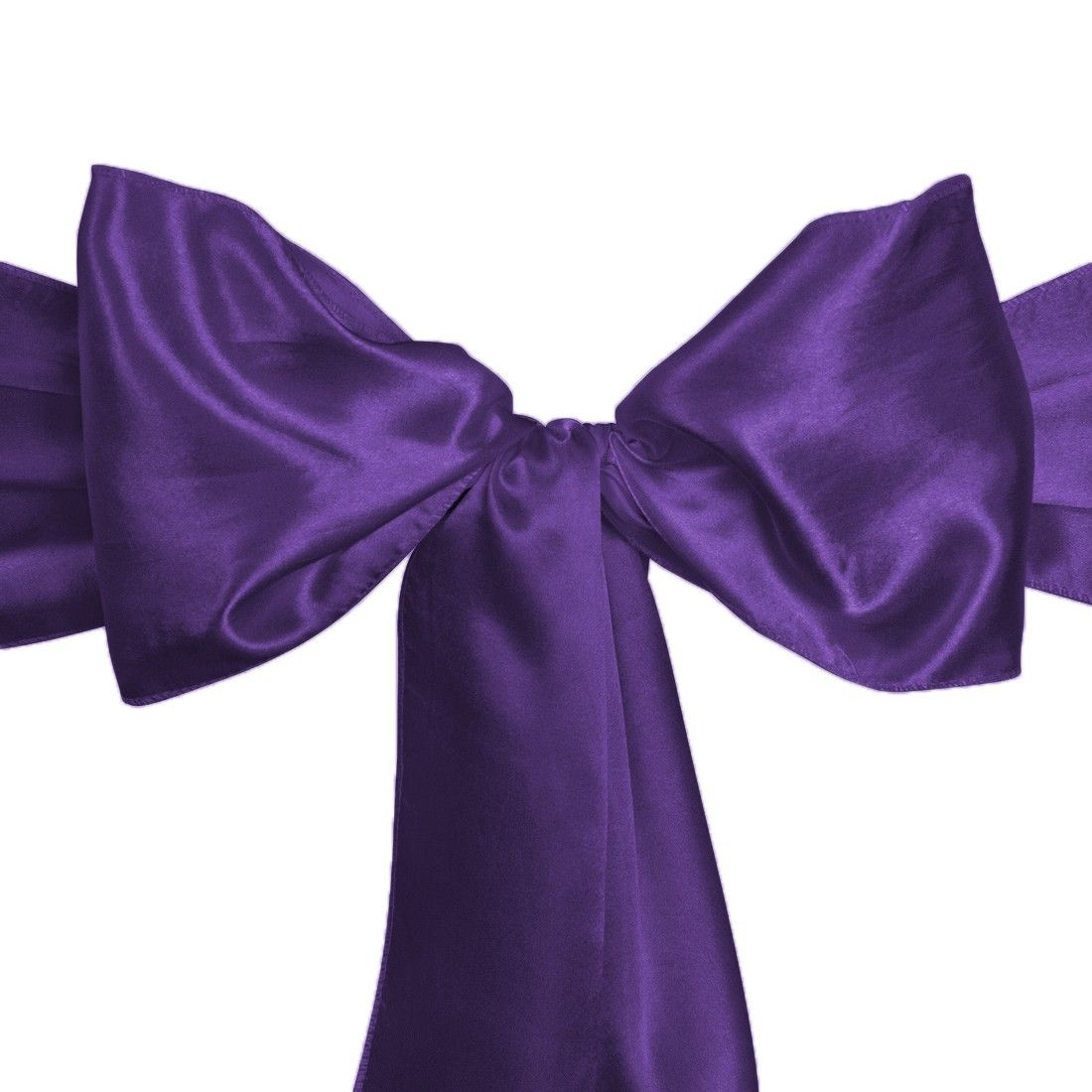 Satin Sash Purple For Events And Wedding Chair Covers