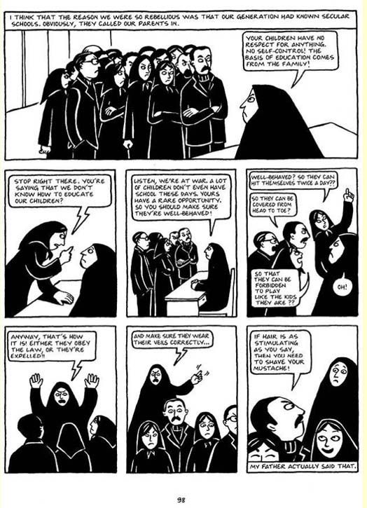 Memoir Marjane Satrapi S Persepolis Page 5 Wide Angle Pbs Autobiographical Comics Novels Graphic Novel
