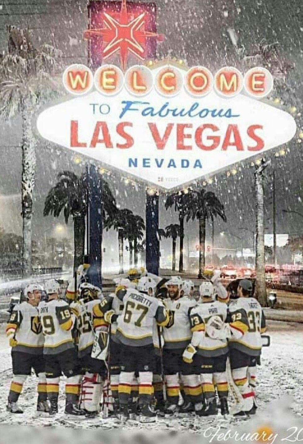 Snow Great Hockey In Las Vegas Las Vegas Knights Vegas Golden Knights Golden Knights Hockey