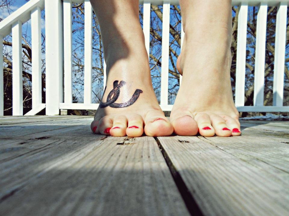 horseshoe tattoo, foot tattoo | Tattoos | Pinterest