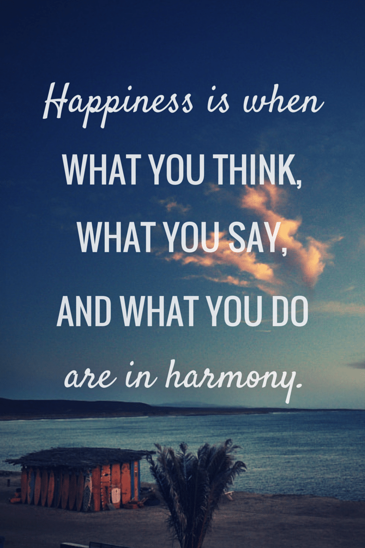 Inspiration from #IAmAHair | Happiness is when what you think, what you say, and what you do are in harmony.