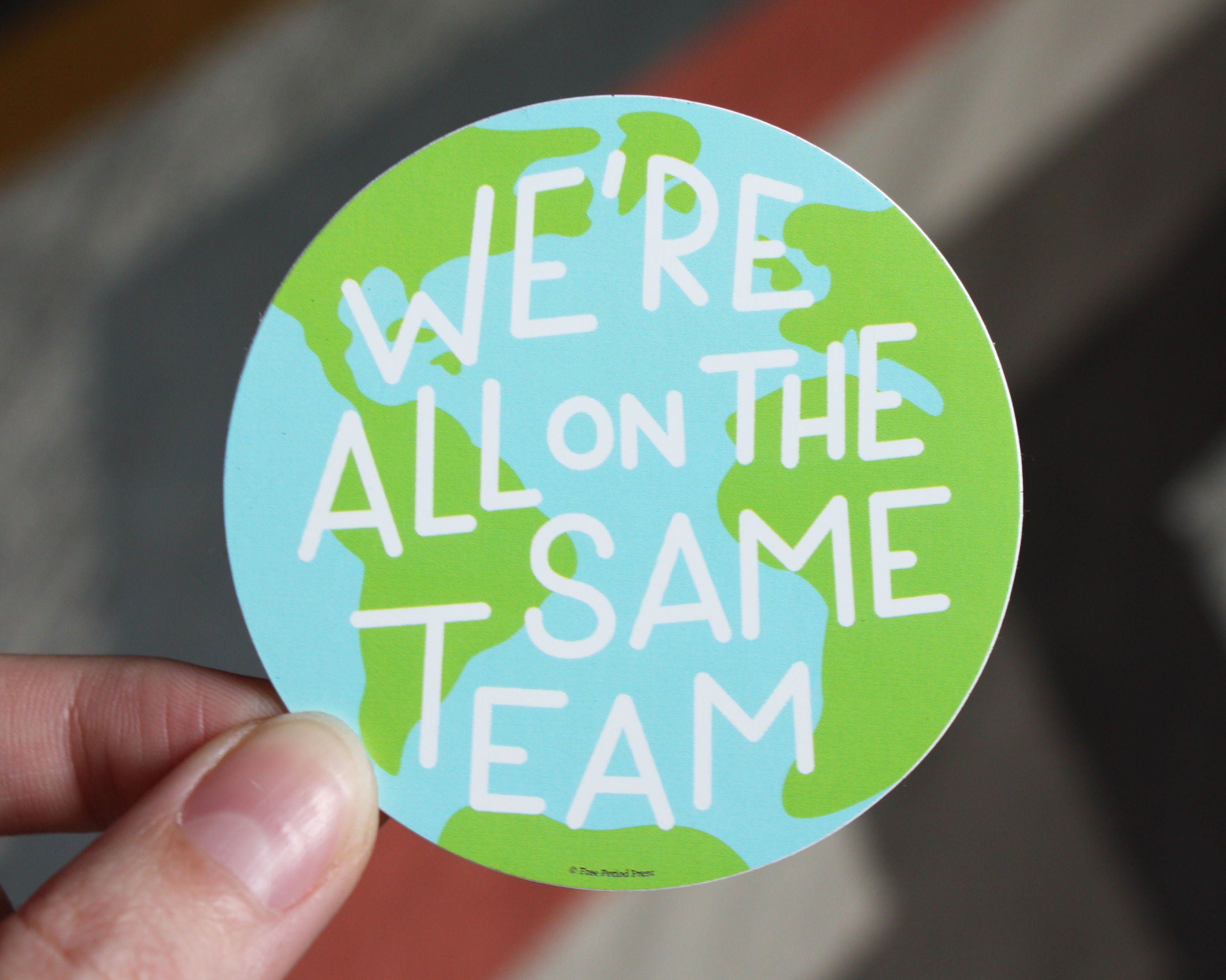 We Re All On The Same Team Vinyl Decal Sticker Free Period Press Bottle Stickers Vinyl Sticker Vinyl Decal Stickers [ 2386 x 2984 Pixel ]