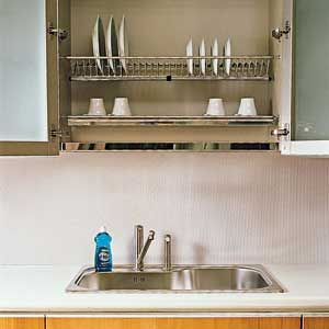 kitchen dish drying mat corner seating smart storage solutions 1 high and dry this concept long popular in europe elevates the sink side rack to a whole new level water drips into removable drainage tray