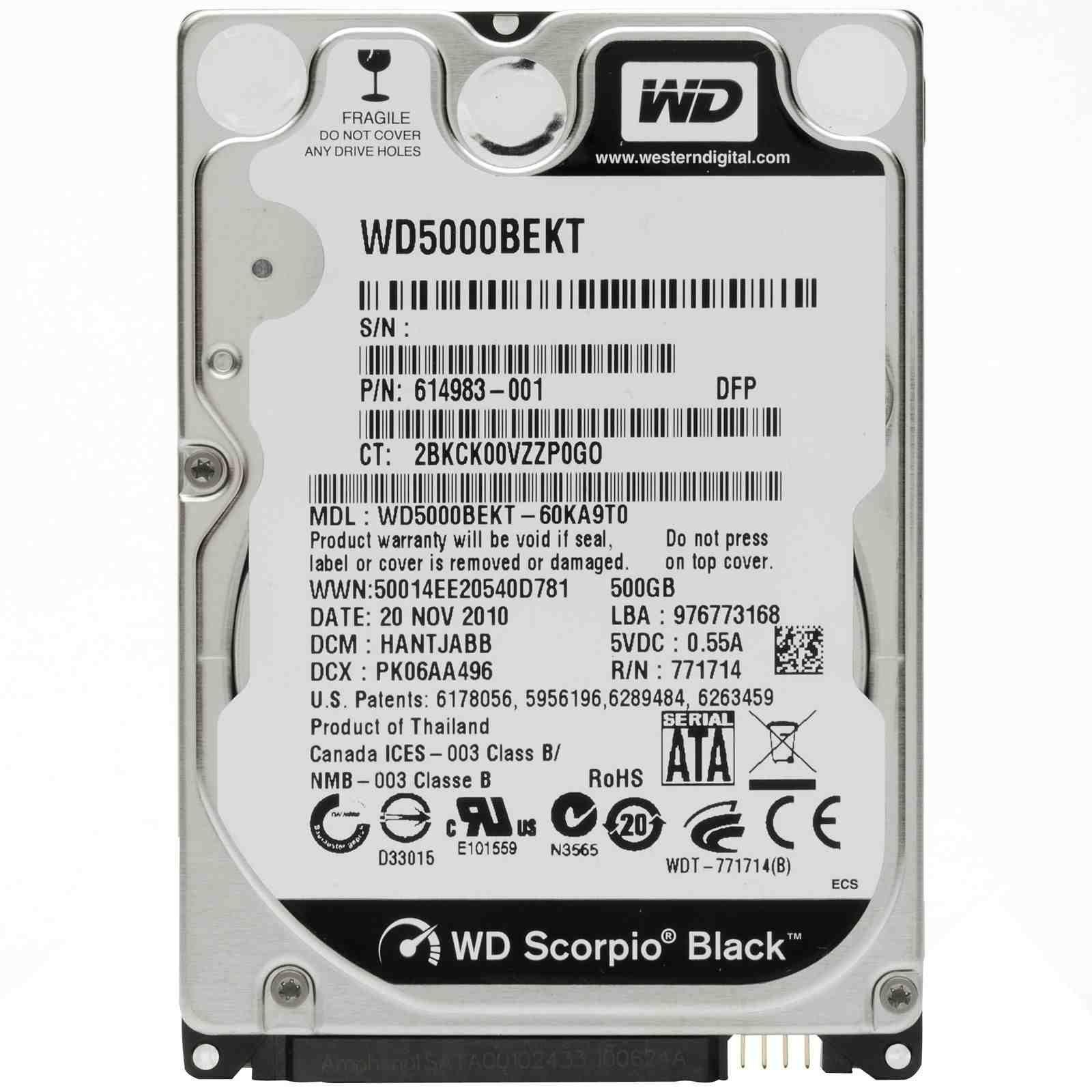 500gb 7200rpm Harde Schijf Voor Alle Laptop Modellen Met Sata Aansluiting Western Digital Wd5000bpkx 500gb Opslagcapaciteit 720 Apple Macbook Laptop Mac Mini