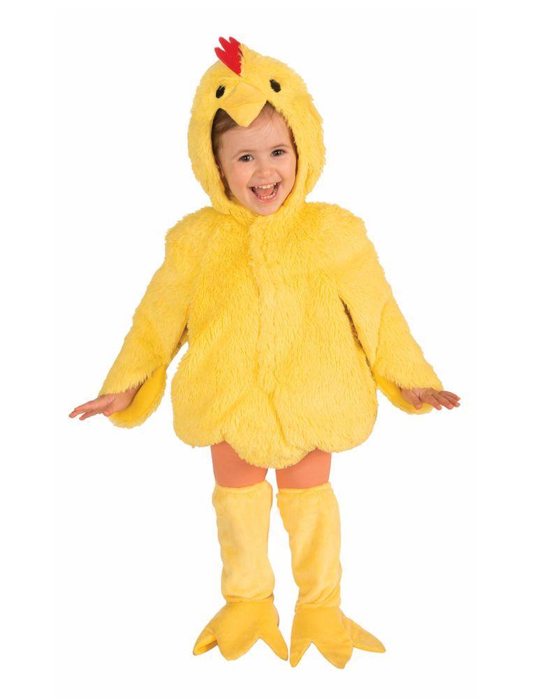 48b959836 Plush Chicken Unisex Toddler Yellow Farm Animal Halloween Costume ...