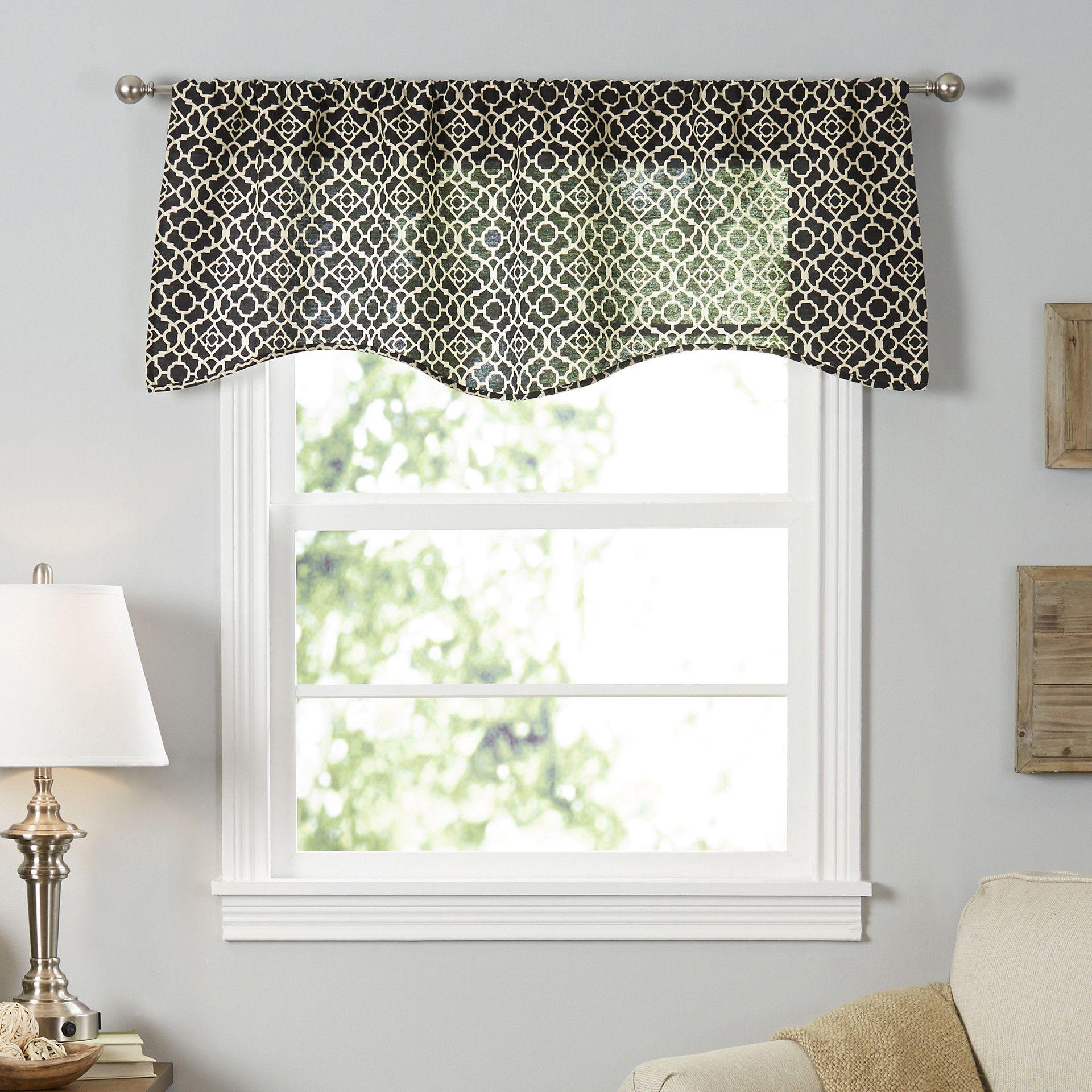 Orla Trellis Rod Pocket Curtain Valance Window Valance Valance