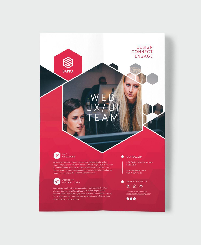 simple flyer template psd