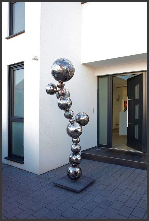 Designer Skulptur Edelstahl Kugel Objekt 230 Cm Ho Deko Garten Neu Ebay Edelstahl Deko Stahl