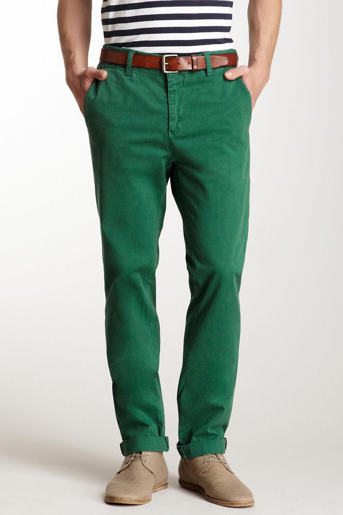 Green Chino Pants | Colored trousers | Pinterest | Products, Pants ...