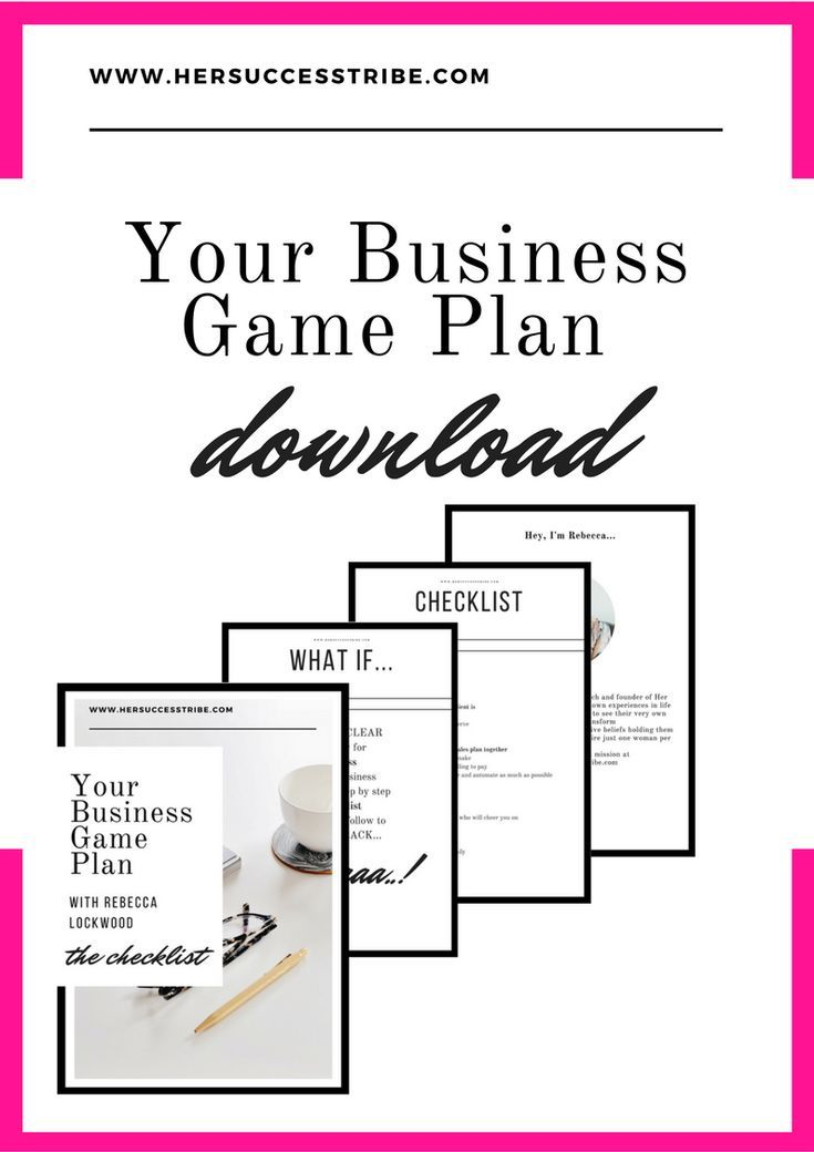 Game Plan  For The Female Entrepreneur Get Your Sales Strategy