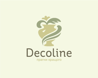 Decoline company produces decorative items for landscaping and interior design also best logos images on pinterest brand identity logo branding rh