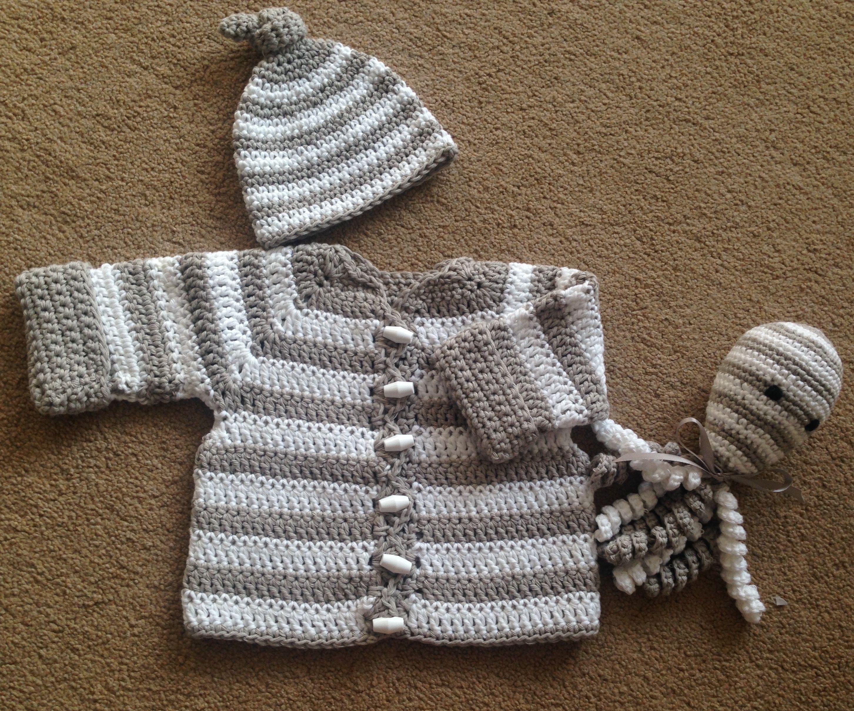 Nya Cute baby crochet set all free patterns   Baby crochet   Pinterest