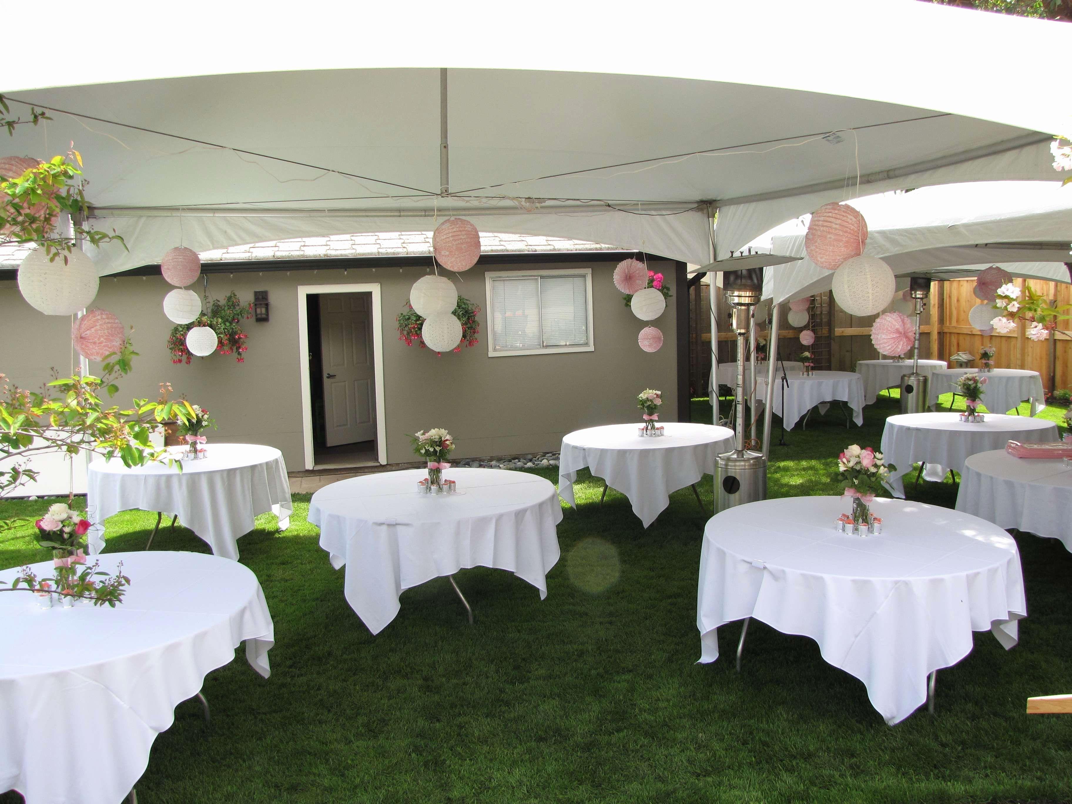 Simple Wedding Decoration Ideas For Reception Planning Ideas And Inspiration W Wedding Backyard Reception Backyard Wedding Decorations Small Backyard Wedding