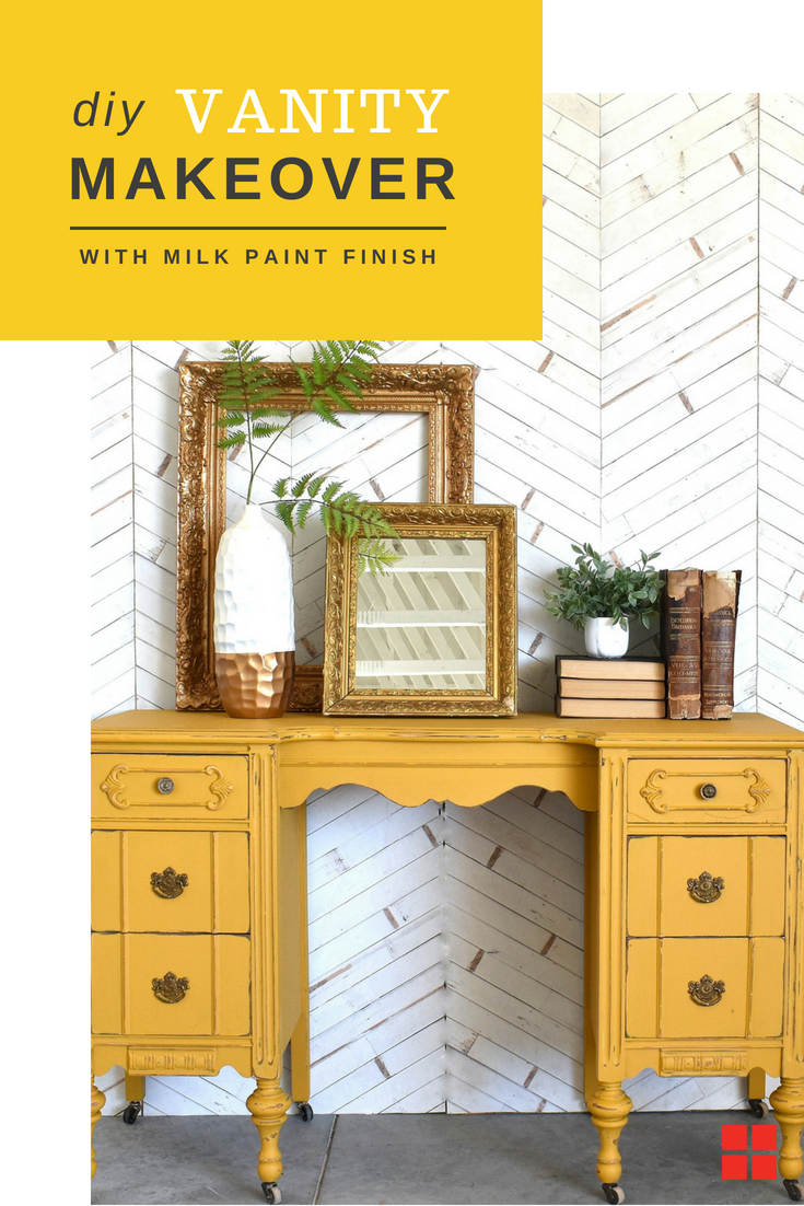 Bring the fall colors indoors this year with this vanity project