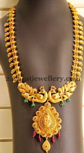 Jewellery Designs Kirtilals Regal Peacock Haram Indian