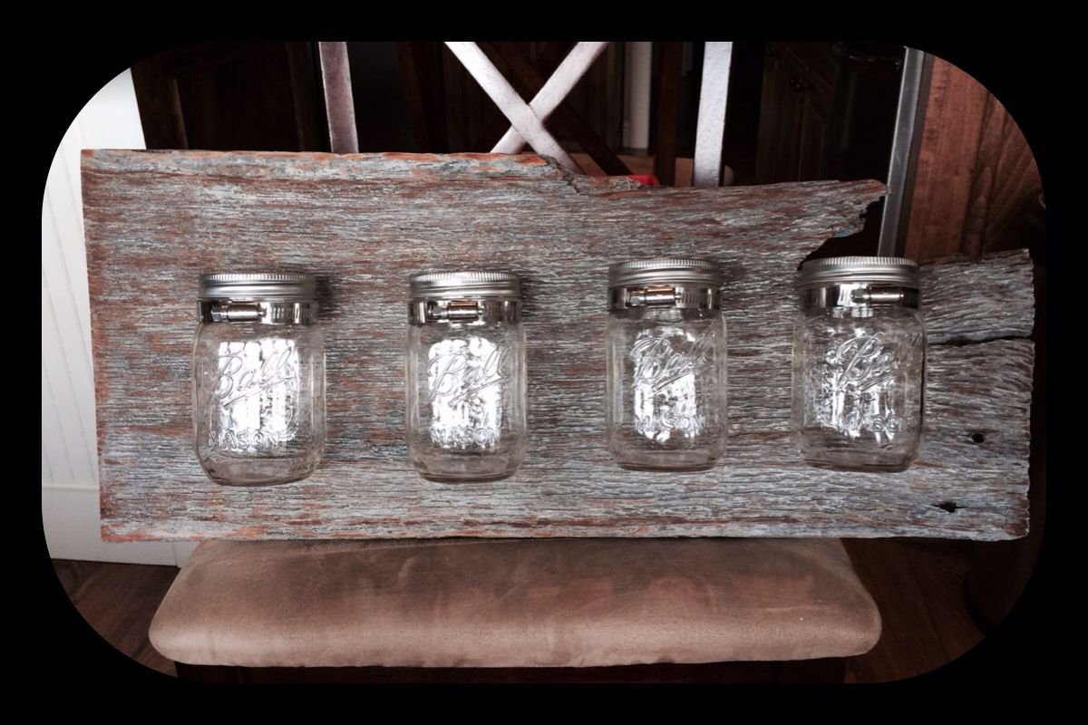 Barnwood Mason Jar Bathroom Caddy Projects I Have Made