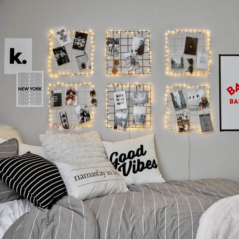Light Up Clip Grid Dormify Cool Dorm Rooms Bedroom Decor Girl Bedroom Decor